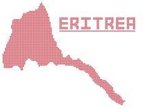 Eritrea África Dot Map Fotografía de archivo libre de regalías