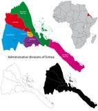 Eritrea översikt royaltyfri illustrationer