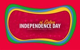 eritrea Поздравительная открытка Дня независимости стиль отрезка бумаги бесплатная иллюстрация
