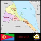 Eritrea Administrative divisions Stock Images