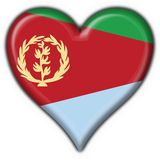 Eritrea button flag heart shape Royalty Free Stock Photo