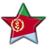 Eritrea button flag star shape Stock Images