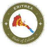 Eritrea circular patriotic badge. Royalty Free Stock Photo