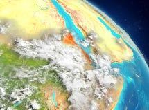 Eritrea de la órbita ilustración del vector