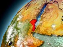 Eritrea de la órbita de Earth modelo Imagen de archivo libre de regalías