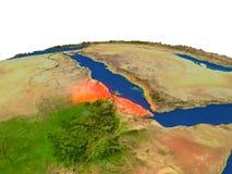 Eritrea en rojo de la órbita stock de ilustración