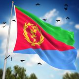 eritrea flagę Fotografia Stock