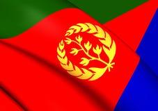 eritrea flagę Obrazy Royalty Free