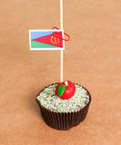 Eritrea flag on a apple cupcake Stock Images