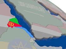 Eritrea with flag Royalty Free Stock Photography