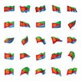 Eritrea flag, vector illustration Stock Image