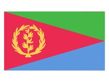 eritrea flagga royaltyfri illustrationer