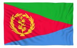eritrea flagga stock illustrationer