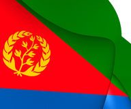 eritrea flagga vektor illustrationer