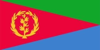 Eritrea flaggavektor Illustration av den Eritrea flaggan royaltyfri illustrationer