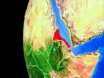 Eritrea från utrymme vektor illustrationer