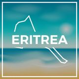 Eritrea map rough outline against the backdrop of. Stock Photography