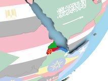 Eritrea med flaggan stock illustrationer