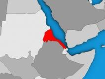 Eritrea på översikten 3D royaltyfri illustrationer