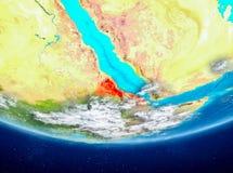 Eritrea på jordklotet från utrymme Royaltyfri Bild
