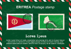 Eritrea postage stamp, vintage stamp, air mail envelope. Stock Photos