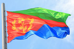 Eritrean flag Stock Photography