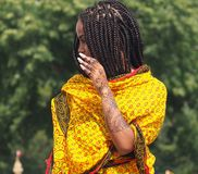 Eritrese Danser With Henna Design Stock Fotografie