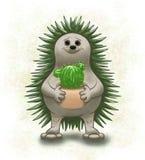 Erizo y cactus ilustración del vector