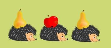 Erizos en el otoño libre illustration