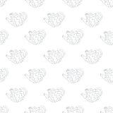 Erizos en un fondo blanco libre illustration