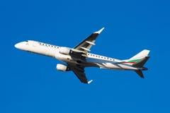 ERJ-190保加利亚空气 免版税库存照片