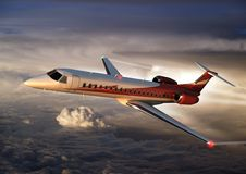 ERJ145 cruising at altitude Royalty Free Stock Image