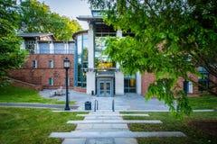 Erkännandena som bygger på Treenighethögskolan, i Hartford, Connecticut royaltyfri fotografi