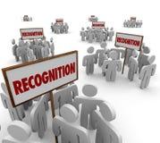 Erkenningsword ondertekent de Arbeiderswerknemers Appreciat van Groepenmensen Royalty-vrije Stock Afbeelding