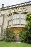 Erker-Fenster, Lacock-Abtei, Großbritannien Stockbilder