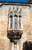Erker-Fenster an Lincoln-Schloss Gatehouse Stockfoto