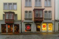 Erker-vensters in St Gallen Royalty-vrije Stock Afbeeldingen