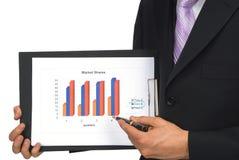 Erklären des Geschäftsdiagramms Stockbild