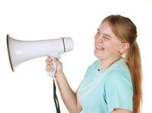 Erklären eines Witzes und Lachen Lizenzfreies Stockfoto