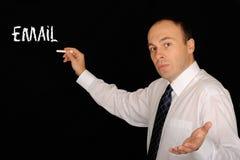 Erklären von eMail stockfotografie