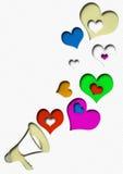 Erklärungen der Liebe lizenzfreie abbildung