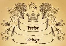 Erklimmen Sie mit Weinleseartgestaltungselementen, Gebrauch für Logo, Rahmen Lizenzfreie Stockfotos