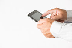 Erkundigen vom Mobile Stockfotos