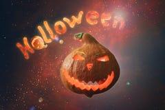 Erläuterte Aufschrift Halloween-Buchstaben von brennenden Kohlen und lizenzfreie abbildung