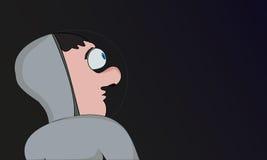 Erläuterter Astronaut im Raum Stockbild