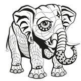 Erläuterter Elefant Stockfotos