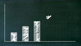 Erläutertes Gewinndiagramm mit Erfolgspfeil stock abbildung