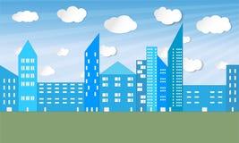 Erläutertes Stadtpanorama - Vektor Lizenzfreies Stockbild