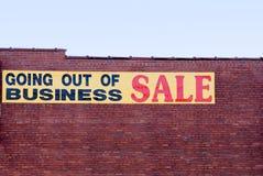 Erlöschen des Geschäfts Lizenzfreies Stockbild