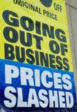 Erlöschen des Geschäfts Lizenzfreie Stockfotos